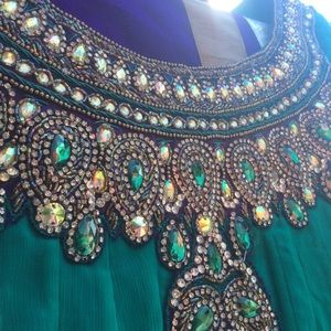 Dresses & Skirts - Long anarkali Bollywood india dress salwar M